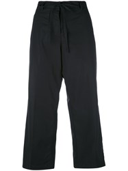Aspesi Flared Cropped Trousers Women Cotton 42 Black