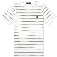 Fred Perry Authentic Fine Striped Tee White