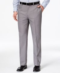 Louis Raphael Gray Pin Dot Dress Pants