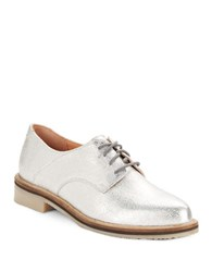 Seychelles Hoodlum Point Toe Oxfords Silver