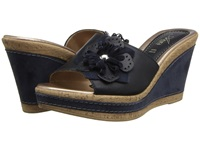Spring Step Narcisse Blue Leather Women's Wedge Shoes