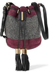 See By Chloe Suede And Wool Bucket Bag Purple