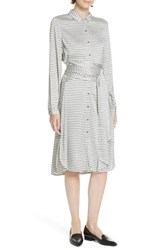 Ted Baker London Colour By Numbers Sandre Stripe Shirtdress Ivory
