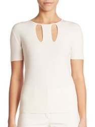 Akris Stretch Cotton And Silk Knit Pullover Moonstone