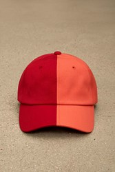 Forever 21 Eptm. Red Split Dad Cap Red Salmon