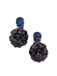 Marni Crystal Ball Clip On Earrings Black Blue