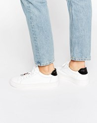 Selected Femme Donna White Patent Leather Trainers White