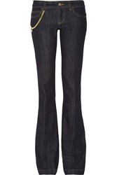 Gucci Low Rise Wide Leg Jeans Navy