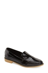 Sole Society 'Hipp' Loafer Women Black Faux Patent