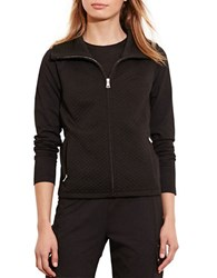Lauren Ralph Lauren Quilted Stretch Cotton Jacket Black