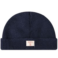 Nigel Cabourn Broad Arrow Embroidered Beanie Blue