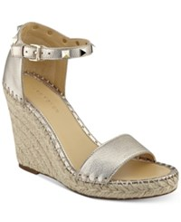 Marc Fisher Kicker Two Piece Wedge Sandals Women's Shoes Bronze Leather