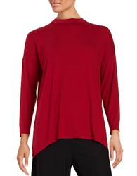 Eileen Fisher Long Sleeve Pullover Red