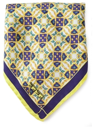 Fe Fe Fefe Stain Glass Print Pocket Square Handkerchief Blue