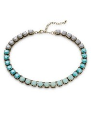 Design Lab Lord And Taylor Faceted Crystal Collar Necklace Blue