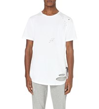 Criminal Damage Shoreditch Cotton Jersey T Shirt White