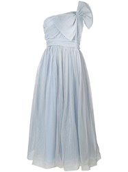 Red Valentino Bow Tulle Dress Women Polyamide Polyester 40 Blue