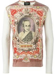 Jean Paul Gaultier Vintage 'Jpg' Printed Top White