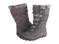 Columbia Minx Mid Ii Omni Heat Shale Bright Red Women's Hiking Boots Gray