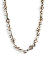 Sorrelli Classic Floral Crystal Necklace Purple