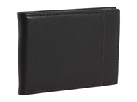 Bosca Old Leather New Fashioned Collection Bifold Front Pocket Wallet Black Leather Bi Fold Wallet
