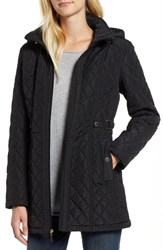 Gallery Quilted Hooded Jacket Black