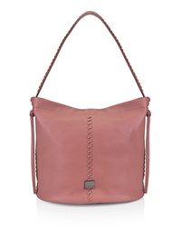 Kooba Limon Leather Bucket Bag Guava Pink Gunmetal