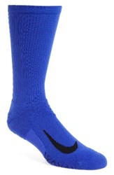 Nike Men's Elite Running Crew Socks Blue Black