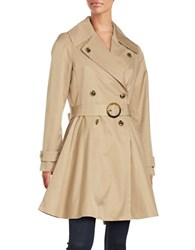 Cece Flared Trench Coat Tan