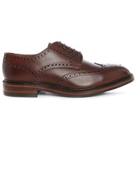 Loake Brown Wingtip Badminton Grained Leather Derbies