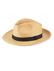 Collection 18 Woven Straw Hat Tan