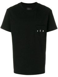 Rta Patch Pocket T Shirt Cotton Black