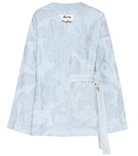 Acne Studios Olinda Embroidered Denim Jacket Blue