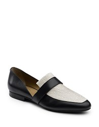 G.H. Bass Hillary Leather Loafers Black White