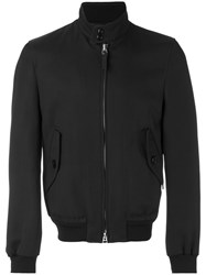 Tom Ford Zipped Bomber Jacket Men Cotton Rayon 52 Black