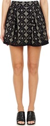 Barneys New York Lace Skirt Black
