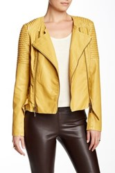 Fillmore Kill Bill Faux Leather Moto Jacket Yellow