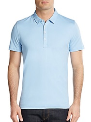 Saks Fifth Avenue Red Cotton Polo Shirt Sky