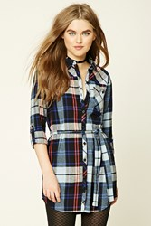 Forever 21 Plaid Flannel Shirt Dress