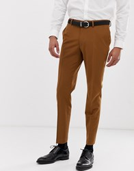Burton Menswear Skinny Fit Stretch Suit Trousers In Gold