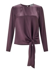 Jigsaw Satin Tie Top Purple