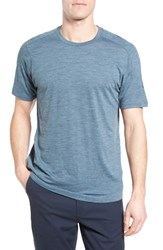 Ibex Men's Regular Fit Overdyed Merino Wool T Shirt Harbor Heather