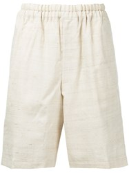 Comme Des Garcons Vintage Loose Fit Shorts Nude And Neutrals