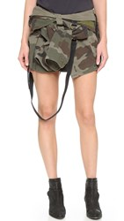 Faith Connexion Camo Shirt Skirt Army