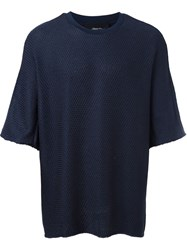 3.1 Phillip Lim Dolman Sleeve Knit T Shirt Blue
