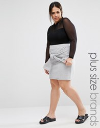 Pink Clove Lounge Knot Front Sweat Skirt Grey