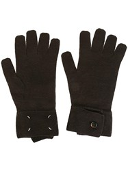 Maison Martin Margiela Classic Knitted Gloves Brown