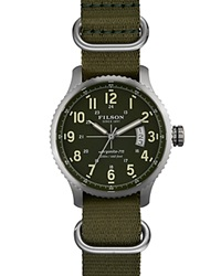 Filson The Mackinaw Field Nylon Strap Watch 43Mm Green