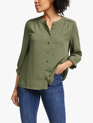 John Lewis Collection Weekend By Dobby Half Sleeve Shirt Khaki
