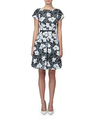 Erin Fetherston Floral Fit And Flare Dress Ivory Black